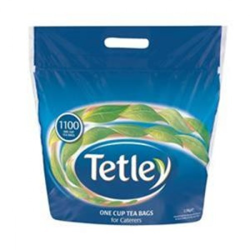 School One Cup Teabags Tetley [Pack 1100]