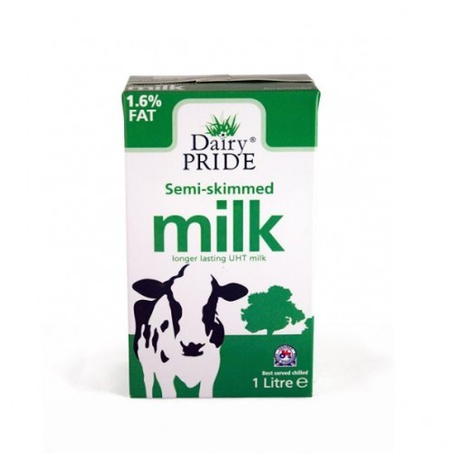 School UHT Semi-skimmed Milk 1 Litre [Pack 12]