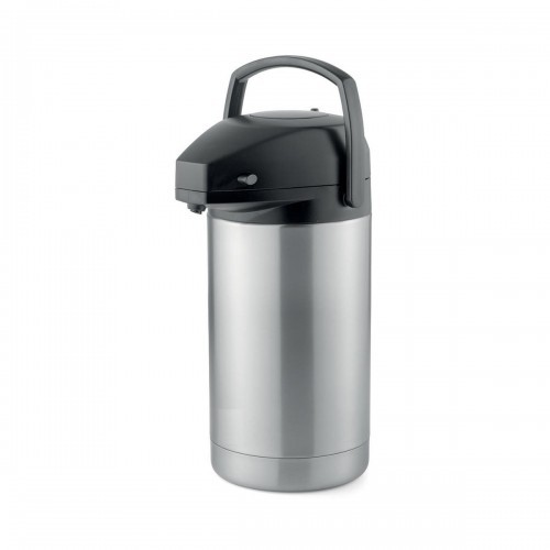 School Pump Pot Vacuum Jug Stainless Steel 8 Hour Heat Retention 3 Litre [Pack 1]