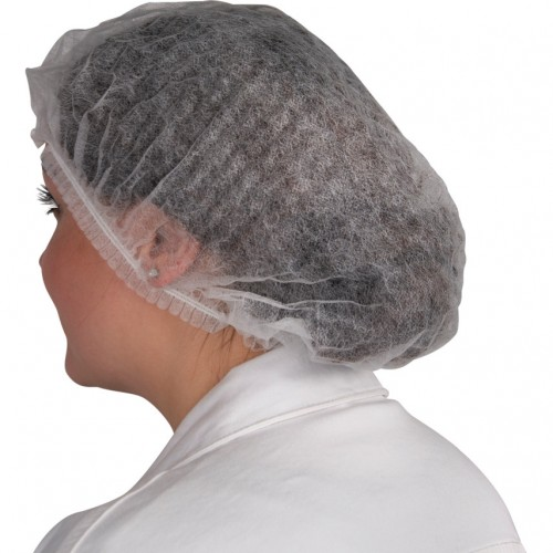 School Disposable Mobcap Hairnet White [Pack 100]