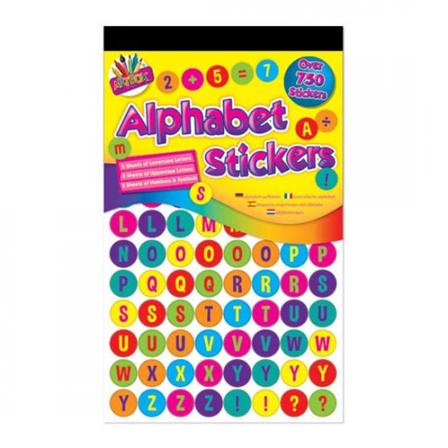 School Learning Number & Alphabet Stickers [Pack 750]