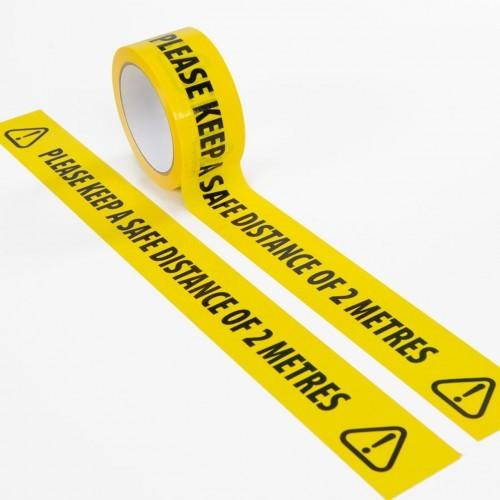 Social Distancing 2 Metre Floor Marking Tape 48mmx33m [Pack 1]