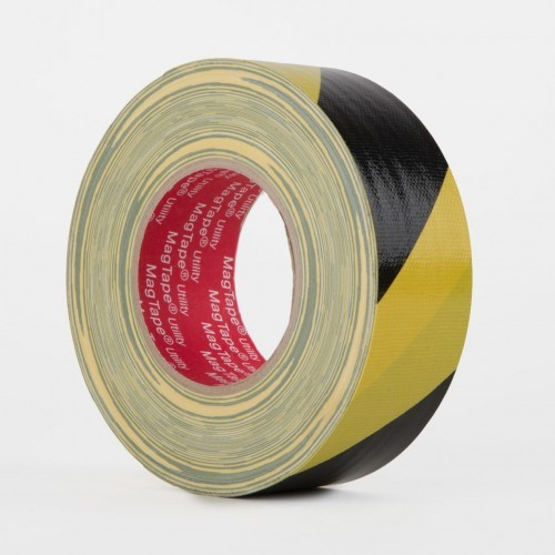 Indoor/Outdoor High Strength Adhesive Floor Marking Tape Black/Yellow 48mmx50m [Pack 1]