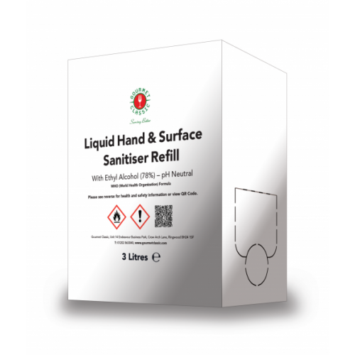 3L Wine Box Hand Sanitiser - Refill Box