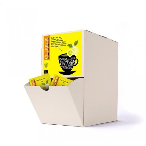 Clipper Lemon and Ginger Fairtrade Envelope Tea Bags - Pack 250