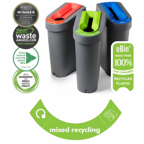 Eco Bin - Mixed Recycling (Green Insert)