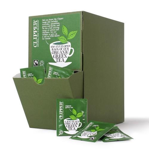 Clipper Green Tea Fairtrade Envelope Tea Bags - Pack 250