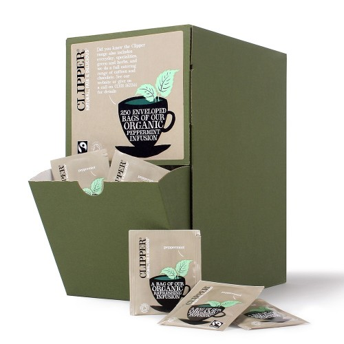 Clipper Peppermint Fusion Fairtrade Envelope Tea Bags - Pack 250