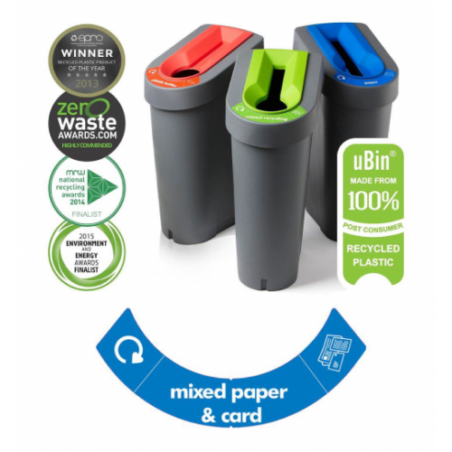 Eco Bin - Paper & Card (Blue Insert)