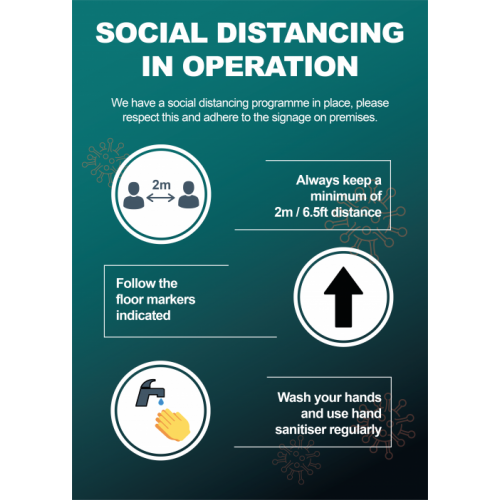 Social Distancing Poster A3
