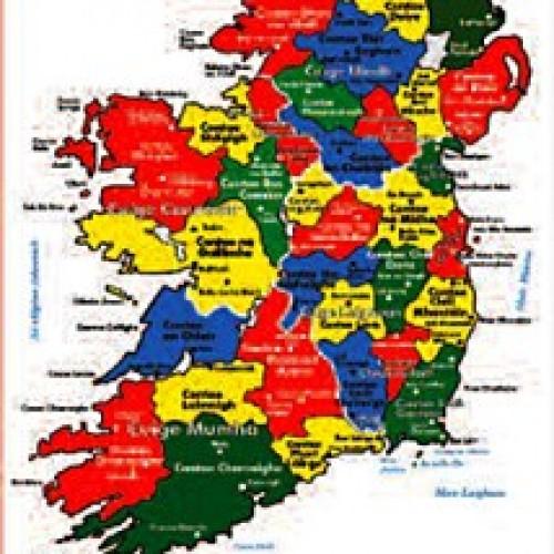 Map Of Ireland Poster.Poster Map Of Ireland Irish