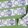 Dominoes - 12 Hour Digital Clock