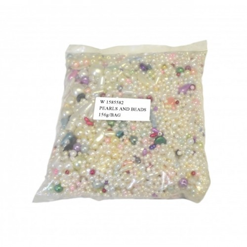 Assorted Plastic Beads - Pearls
