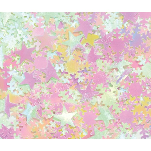 Iridescent Star and Snowflake Sequins
