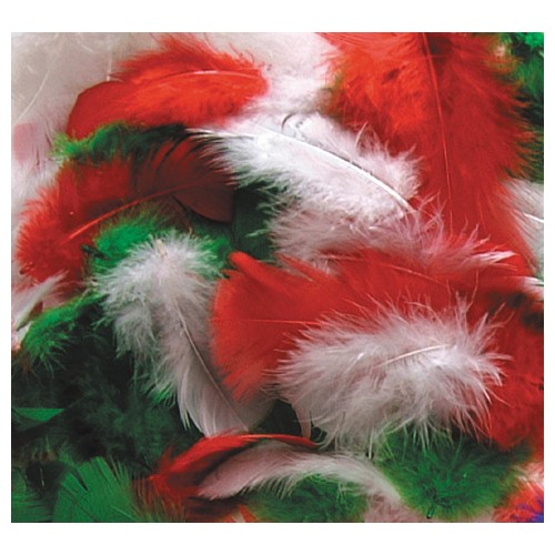 Christmas Craft Feathers