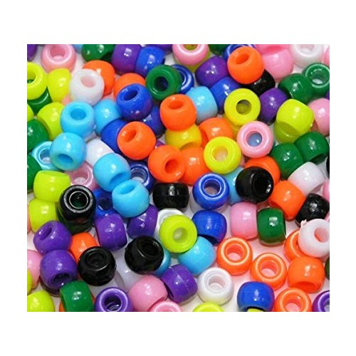 Plastic Pony Beads - Bright