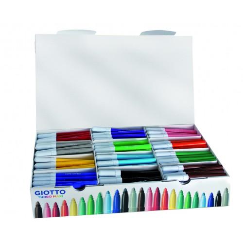 Giotto Turbo Maxi Colour Felt Tips - Schoolpack 288pcs