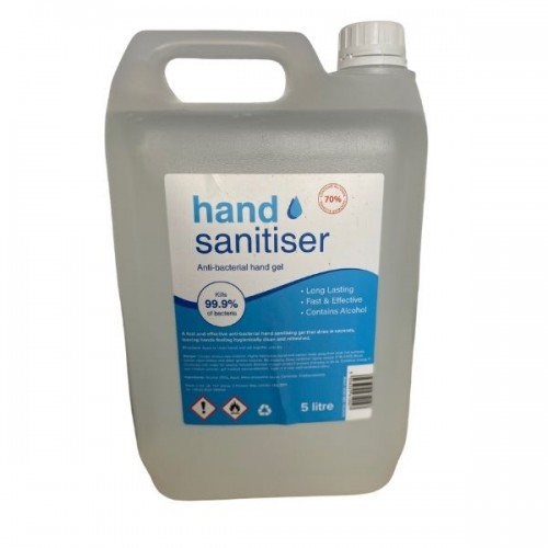 Hand Sanitiser Gel 5 Litre 70% Alcohol
