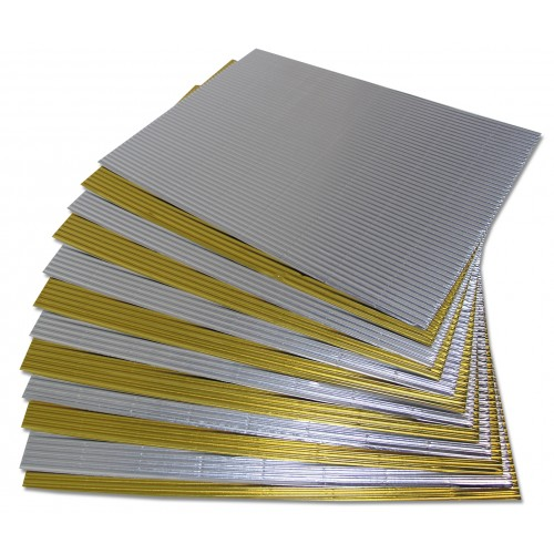 Micro Flute Corrugated Sheets - Gold & Silver