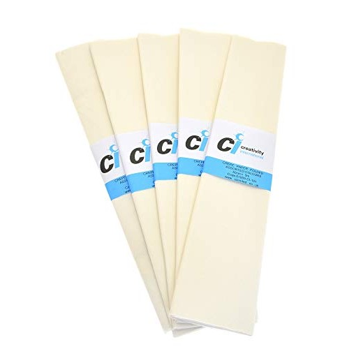 Super Value Crepe Folds - White