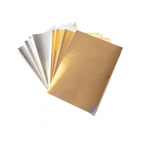 A5 Silver/Gold Mirror Card
