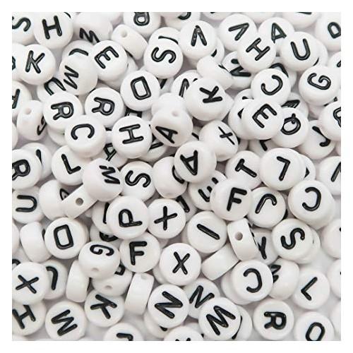 Letter Beads - White