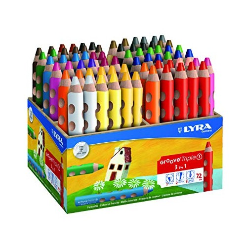 Lyra Groove Triple One Colouring Pencil - Wooden Display
