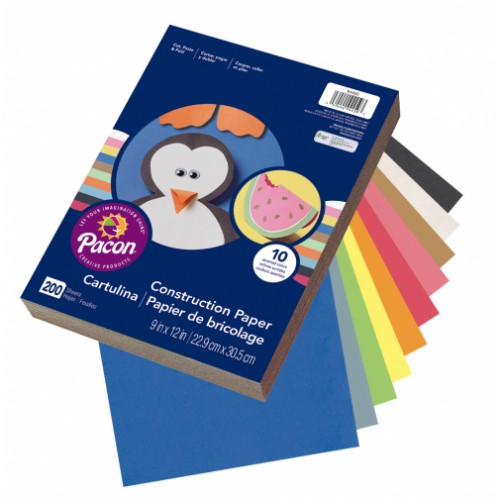 Super Value Construction Paper - A4 + Assorted