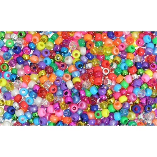 Plastic Pony Beads - Assorted