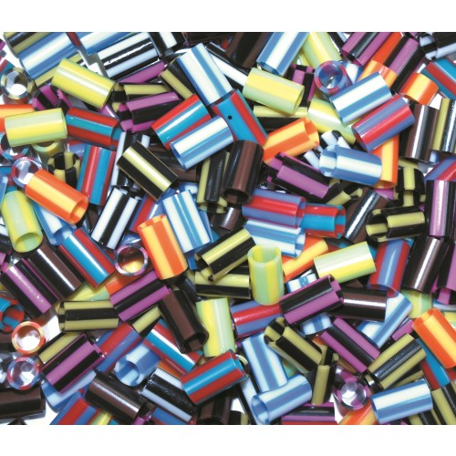 Straw Beads - Striped