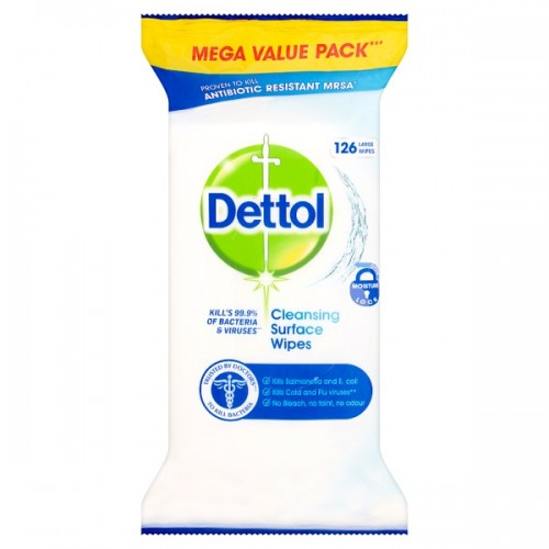 Dettol Cleansing Surfaces Wipes 126 Large Wipes