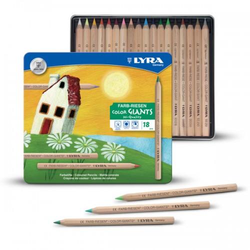 Lyra Colour Giants Pencils Nature and Skin Tones - Metal Box