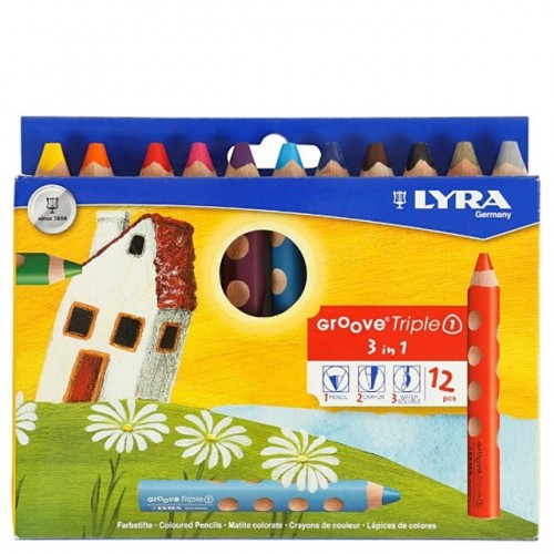 Lyra Groove Triple One Colouring Pencil - Hangpack