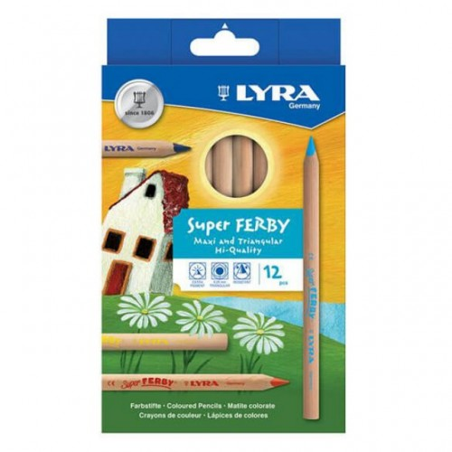 Lyra Super Ferby Nature Colouring Pencils - Hangpack