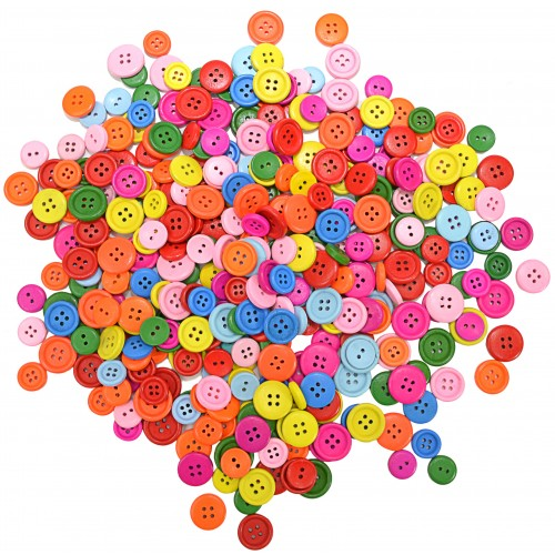 Coloured Wooden Buttons