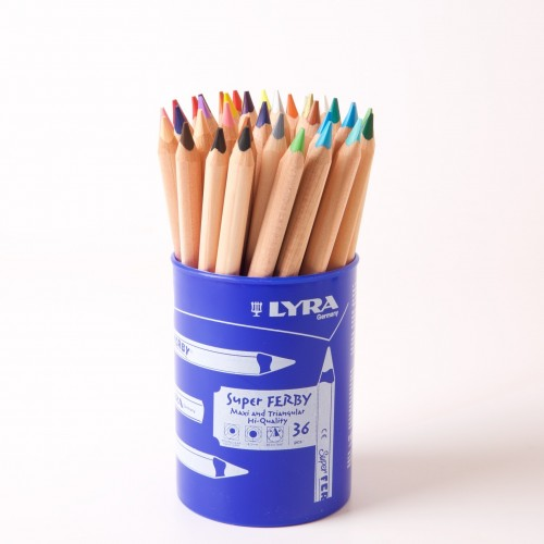Lyra Super Ferby Nature Colouring Pencils - Pot