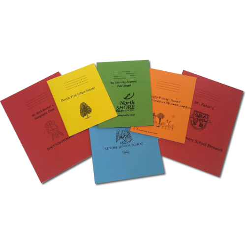 Exercise Book Selector - Choose your size ruling and colour!