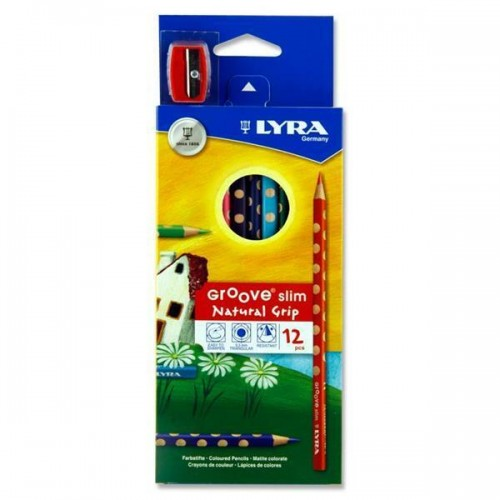 Lyra Groove Slim Colouring Pencils - Hangpack + Sharpener