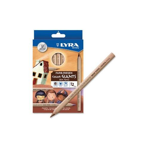 Lyra Colour Giants Pencils - Skin Tones