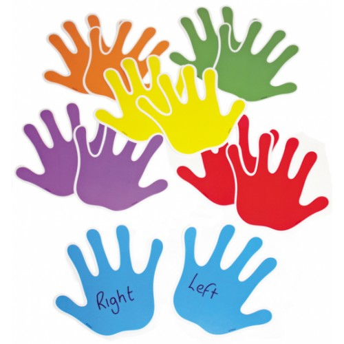 Die-cut Display Embellishments - Handprints