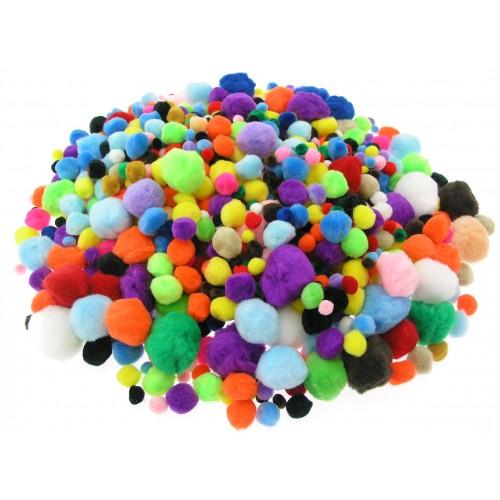 Assorted Pom Poms - Classpack