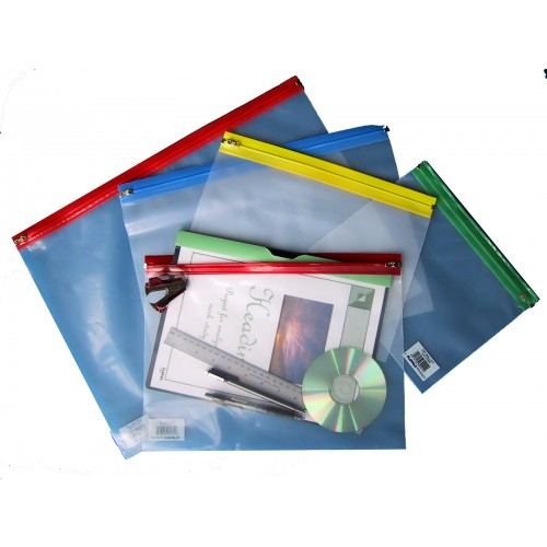A4 Zip Wallet Blue Pack 25