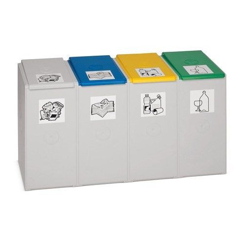 VAR® recycling container, 40 litres, x4 in plastic