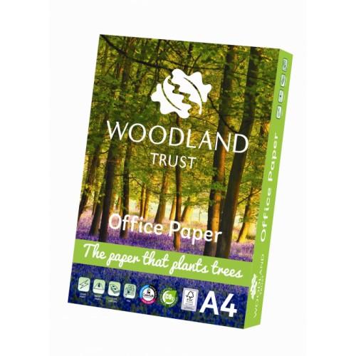 A4 Woodland Trust Office Paper FSC 75gsm TCF Carbon Neutral - Box of 5 reams