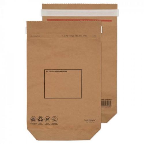 Vita For Life Kraft Mailing Bag Peel And Seal Natural Brown 370x300x80 110gsm {Pk100]