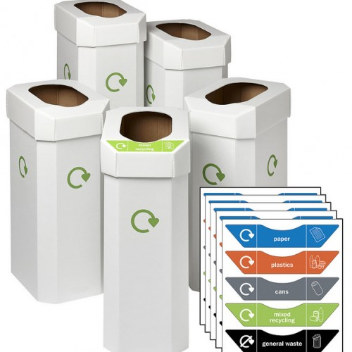 Combin Office Recycling Bins [Pack of 5]