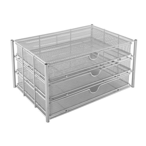 Osco Silver Wiremesh - 3 Drawer Chest