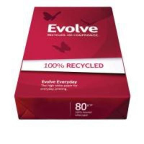 Evolve Evolution White Everyday Recycled A3 Paper 80gsm 500 Sheets