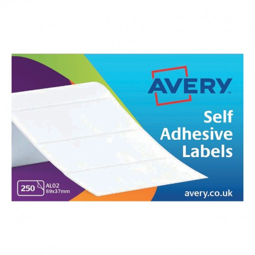 Avery Address Labels Typewriter Roll 89x37mm White Ref AL02 250 Labels