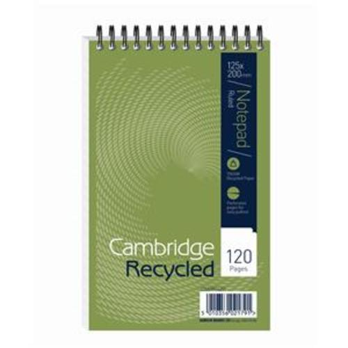 Cambridge Shorthand Notebook Wirebound Ruled 120 Pages Recycled (Pack of 10)